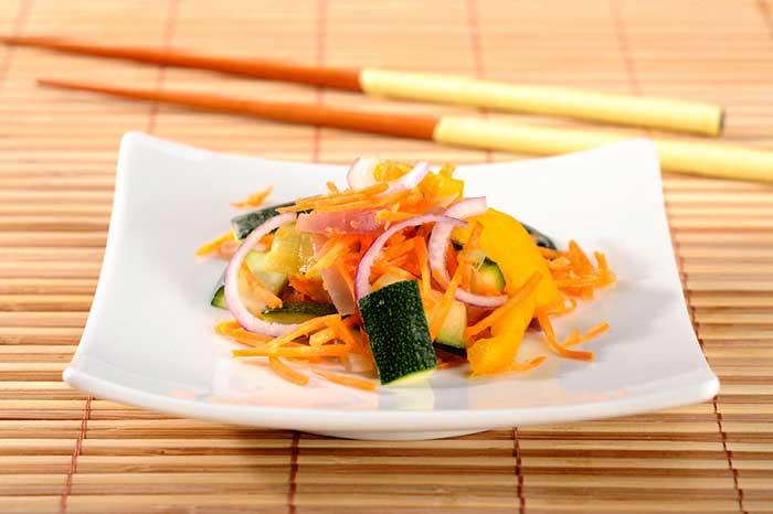 Gebratener Ingwer-Salat