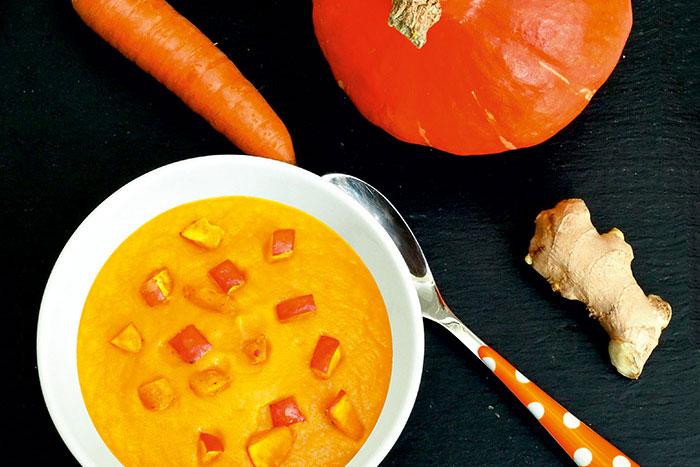 Hokkaido-Kürbis-Suppe
