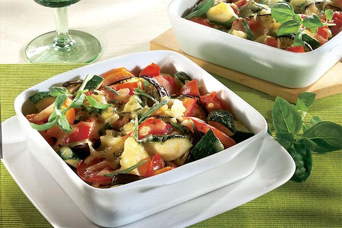Mediterranes Kartoffel-Gemüse-Gratin