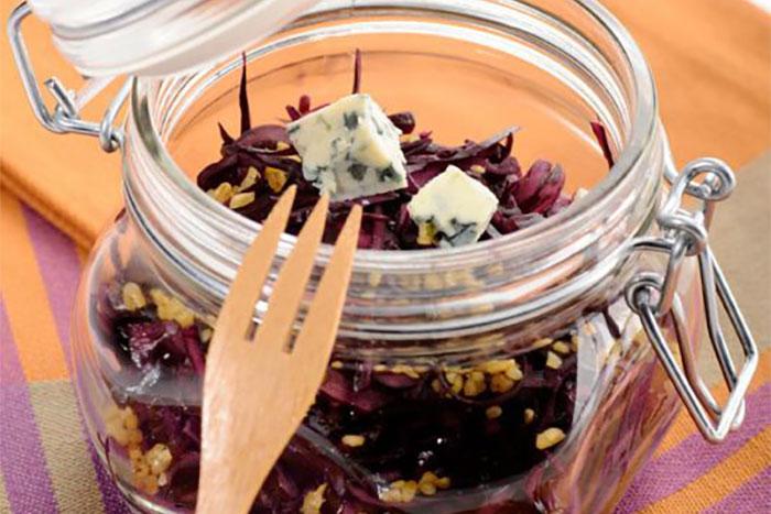 Herbstlich-nussiges Rotkraut mit Blauschimmelkäse