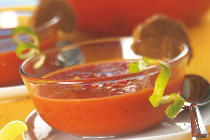 Paprika-Limetten-Suppe