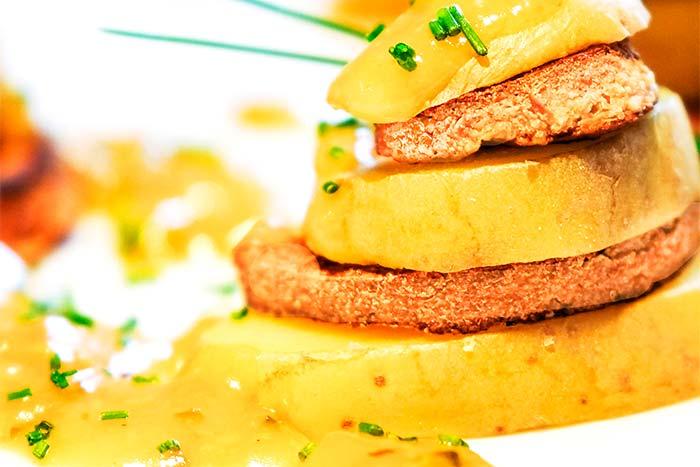 Senfsauce zu Kartoffeln und Tofu