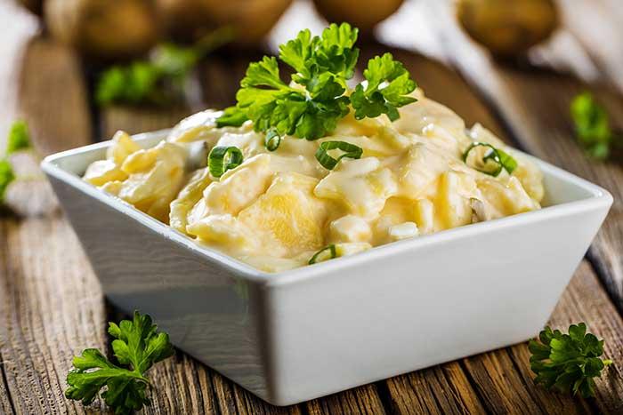 Serviervorschlag Kartoffelsalat
