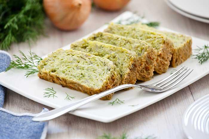 Serviervorschlag Zucchini Flan